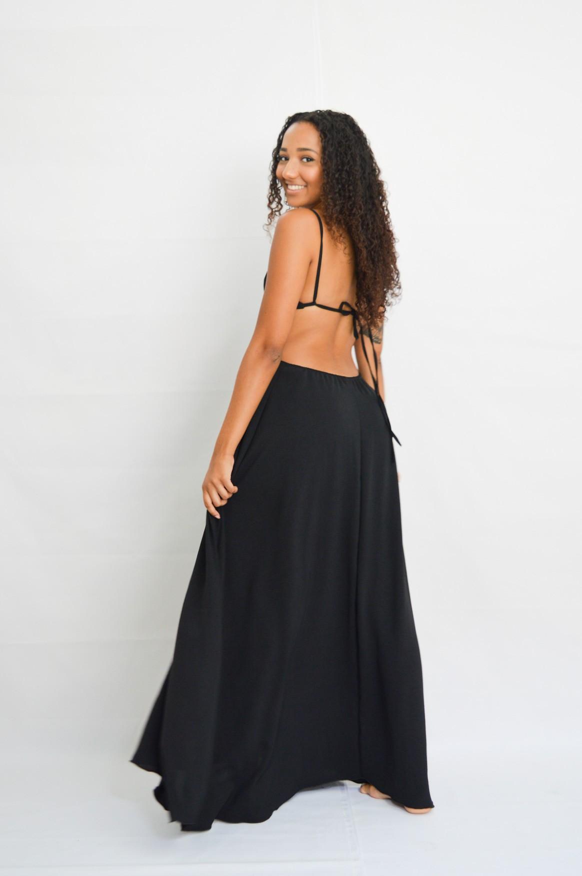 Vestido Oahu Preto