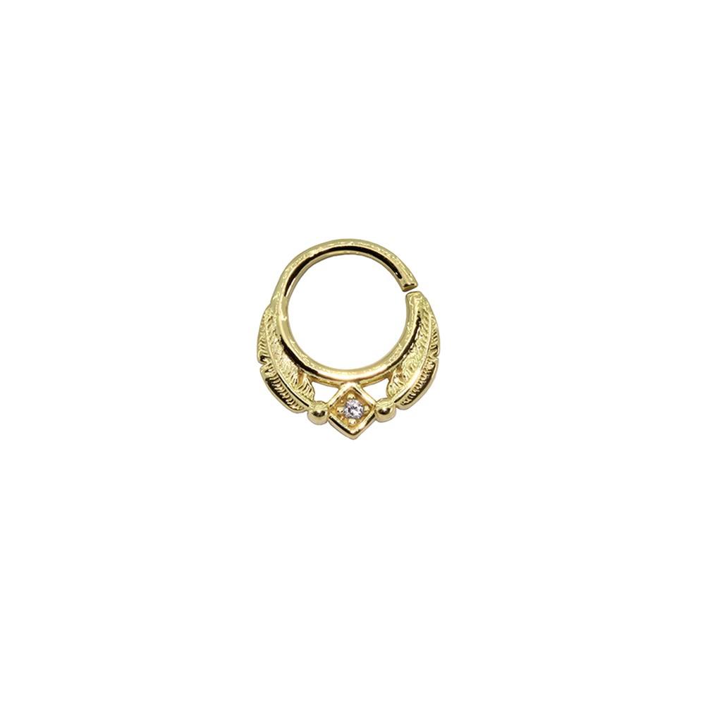 Piercing para Helix / Daith Argola em Ouro 18k mod 01