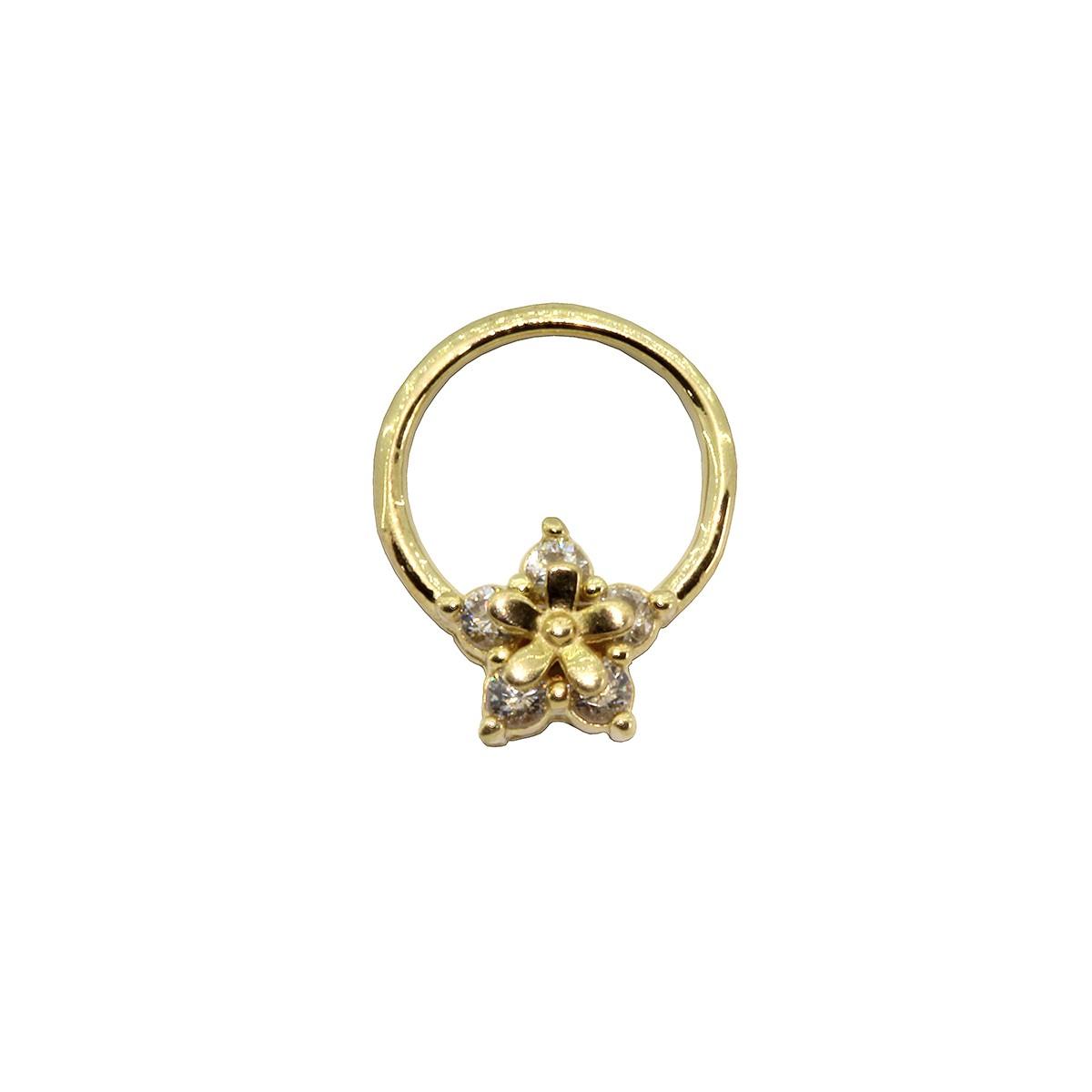 Piercing Argola Estrela em Ouro 18k Helix - Daith