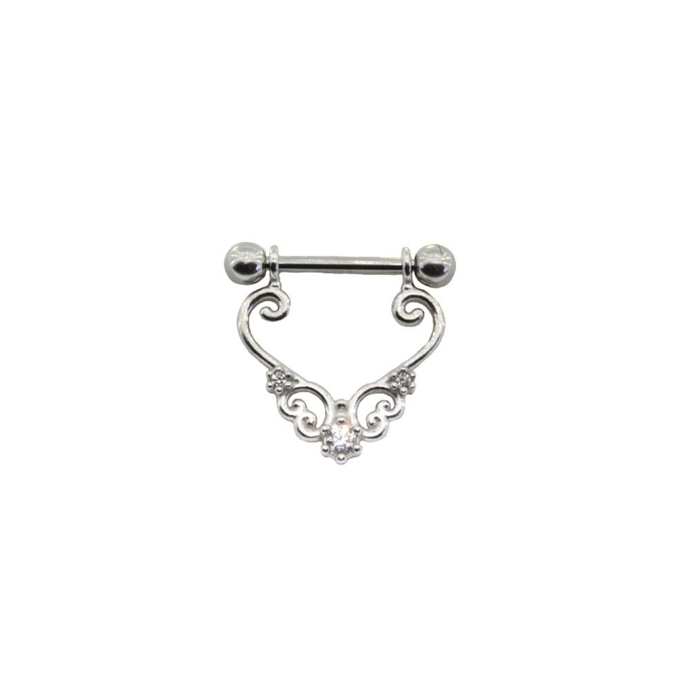 Piercing Cartilagem Prata 925 Com haste Mod 06