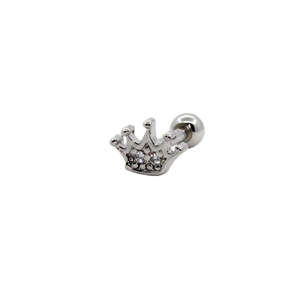 Piercing Cartilagem Prata 925 Coroa