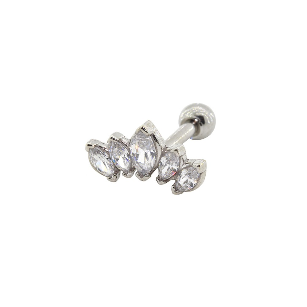 Piercing Helix Prata 925 Coroa de Navete