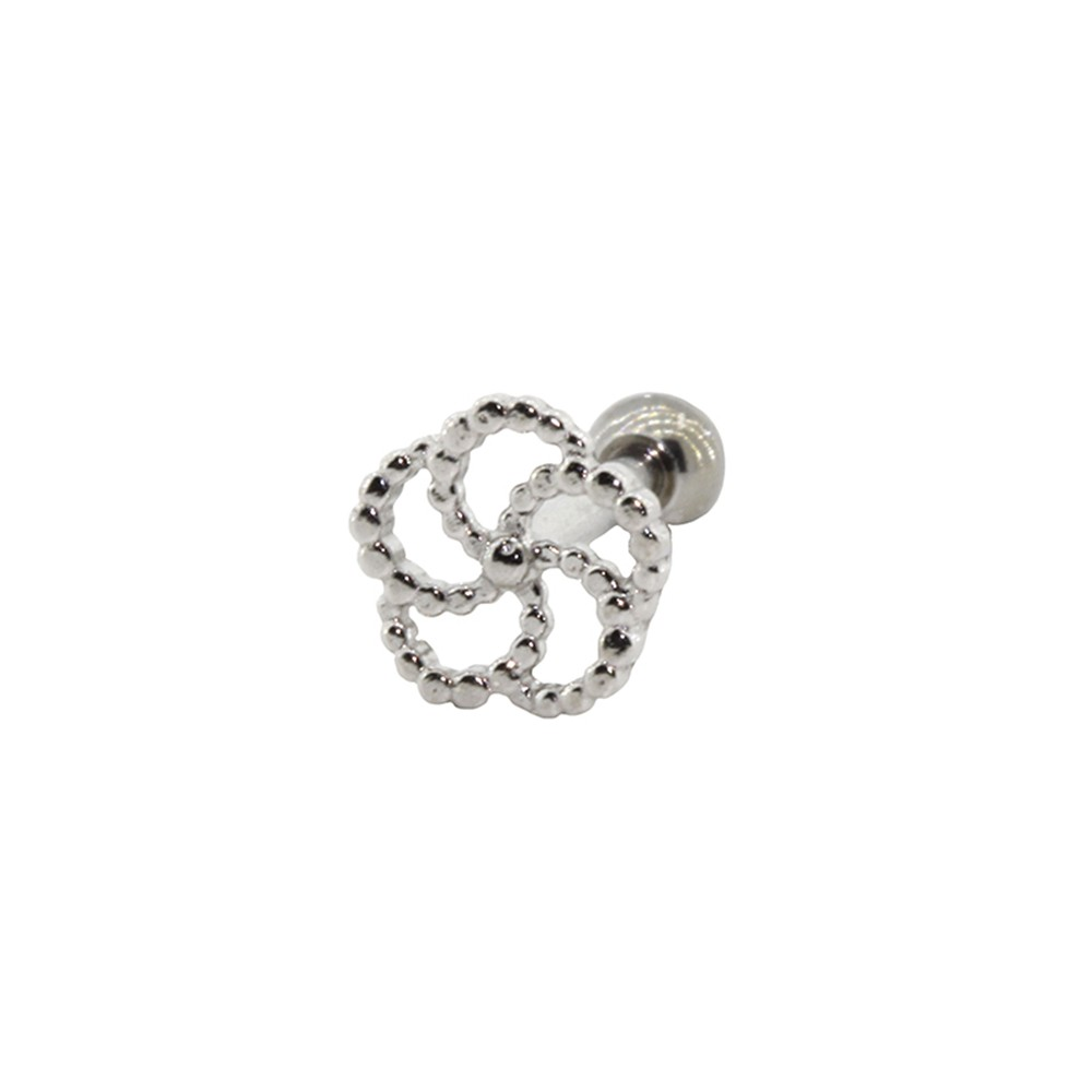 Piercing Cartilagem Prata 925 Espiral