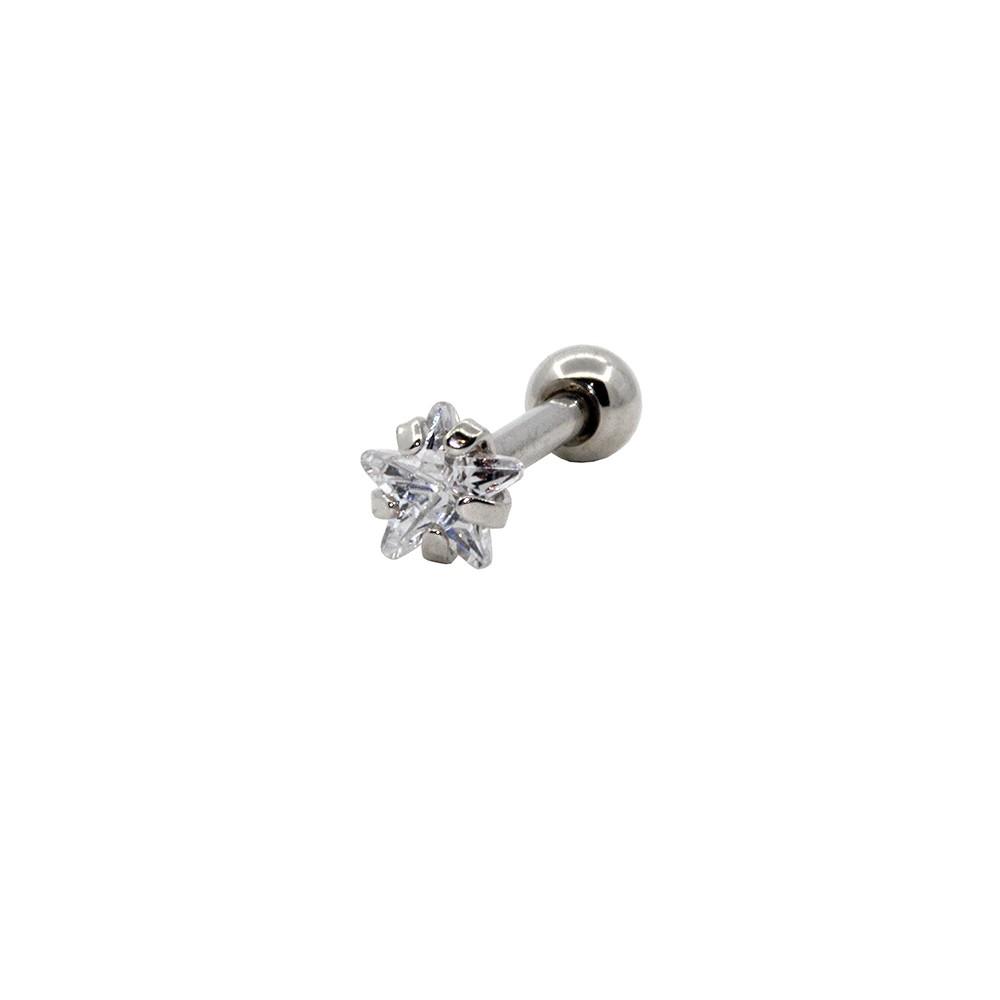 Piercing Helix - Tragus Prata 925 Estrela