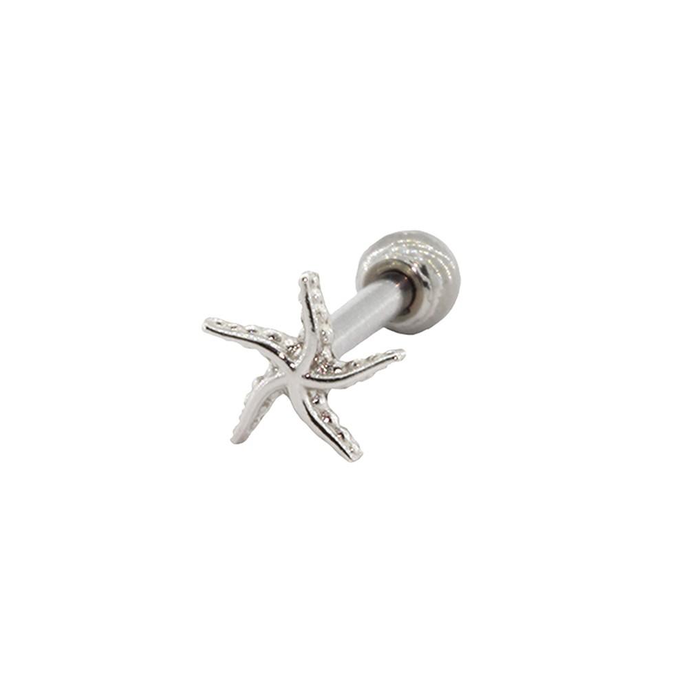 Piercing Helix Tragus Prata 925 Estrela do Mar