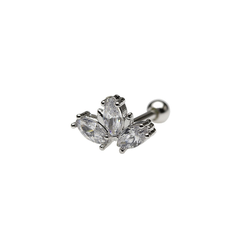Piercing Helix Prata 925 Três Navetes