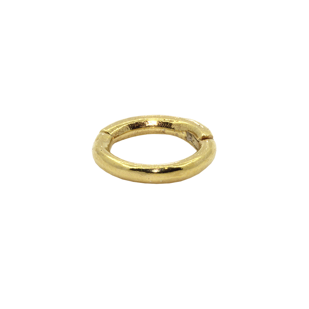 Piercing Helix em Ouro 18k Argola Segmentada Pequena