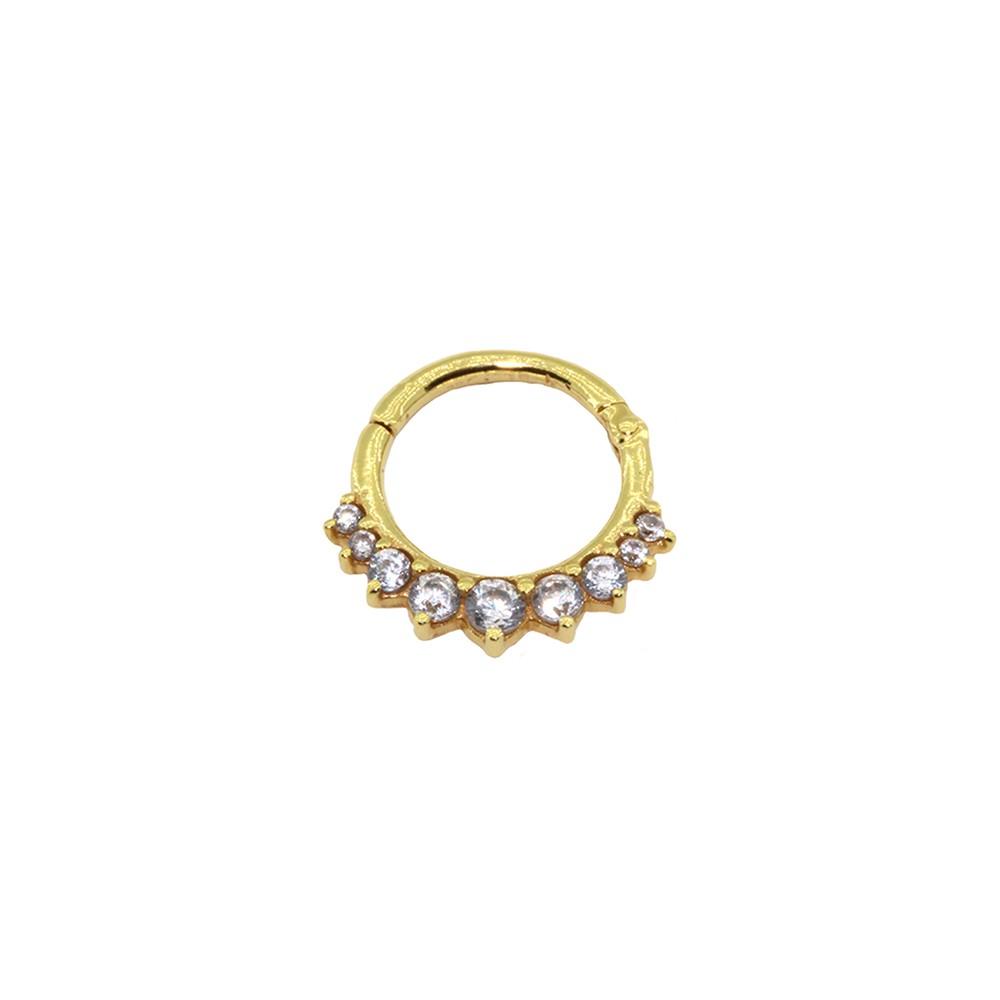 Piercing Helix em Ouro 18k Argola Segmento