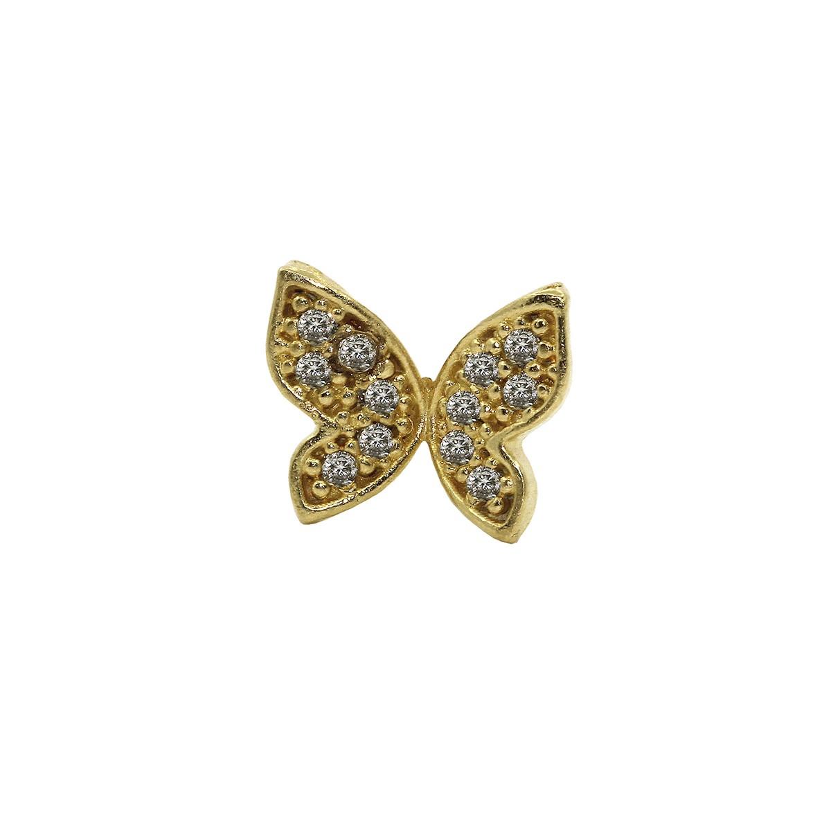 Piercing Helix em Ouro 18k Borboleta