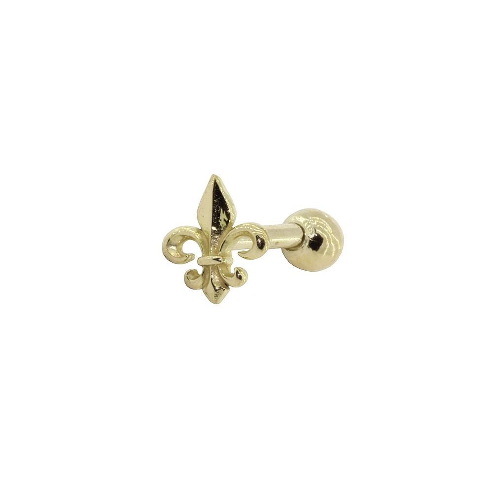 Piercing Helix - Tragus em Ouro 18k Brasão