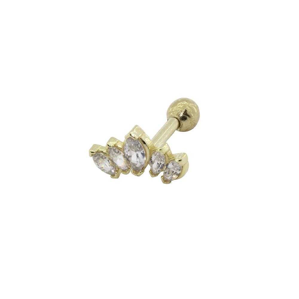 Piercing Helix em Ouro 18k Leque Navete