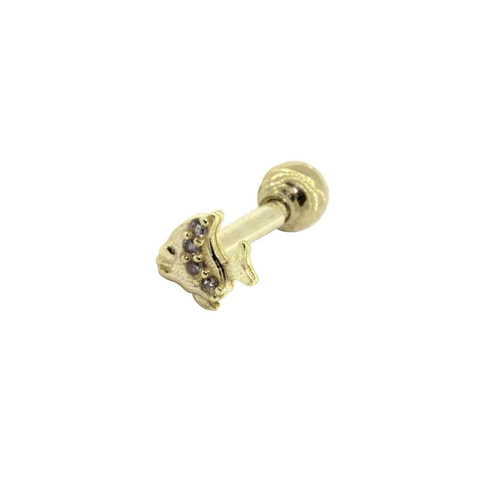 Piercing de Cartilagem em Ouro 18k Peixinho