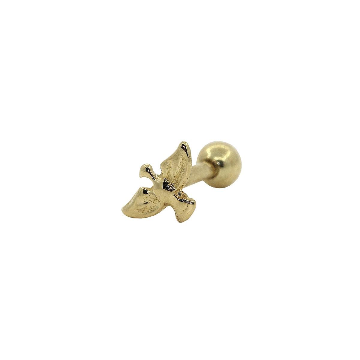 Piercing de Cartilagem em Ouro 18k Pombinha