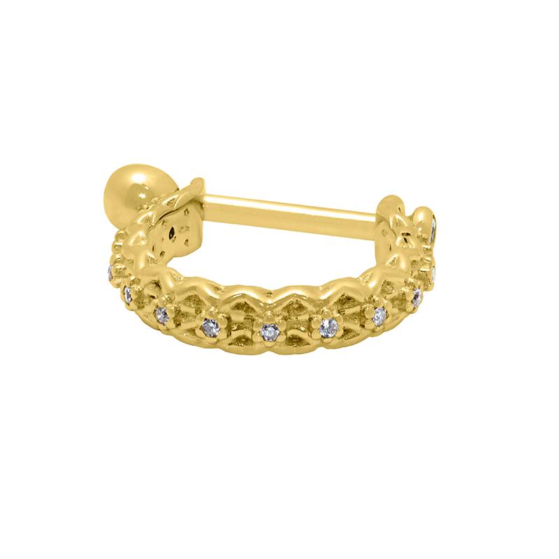 Piercing de Conch em Ouro 18k