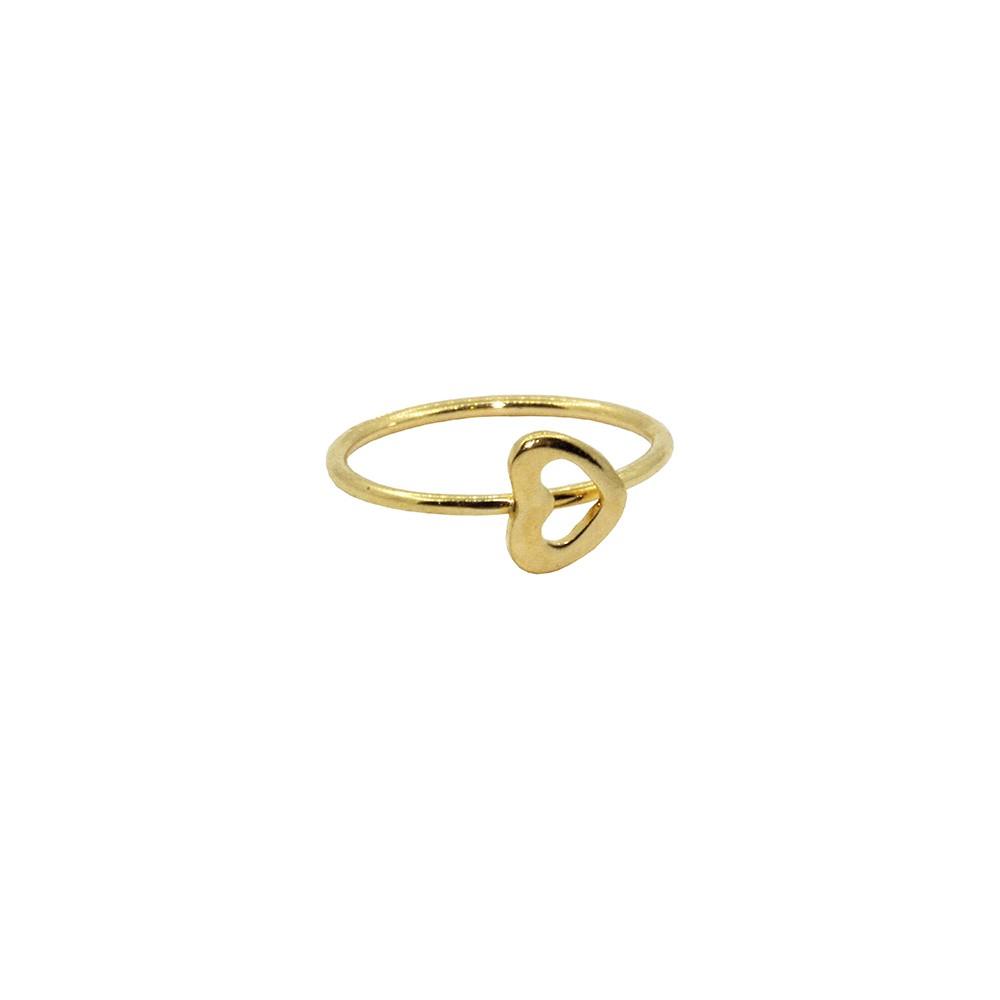 Piercing de Nariz Argola em Ouro 18k Com Coração