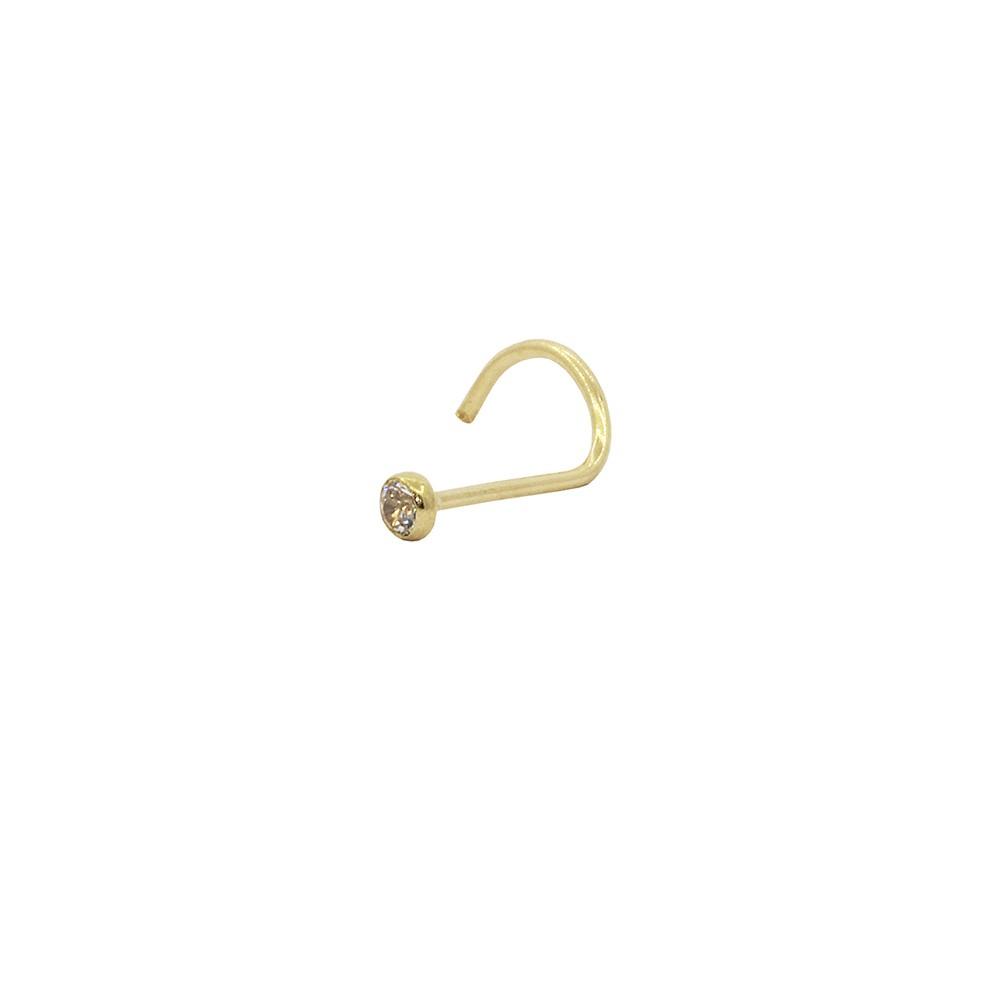 Piercing de Nariz em Ouro 18k com Zircônia