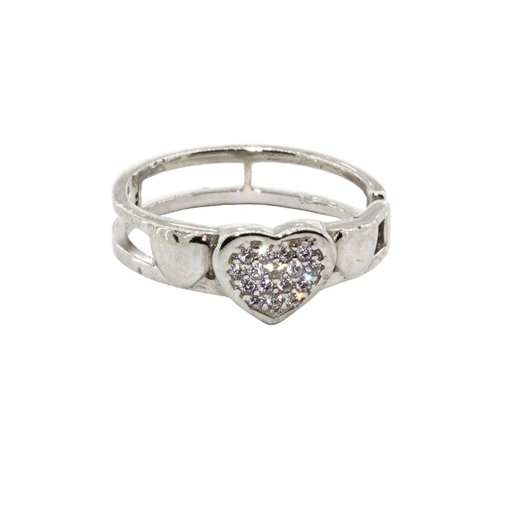 Piercing Helix de Pressão Coração em Prata 925