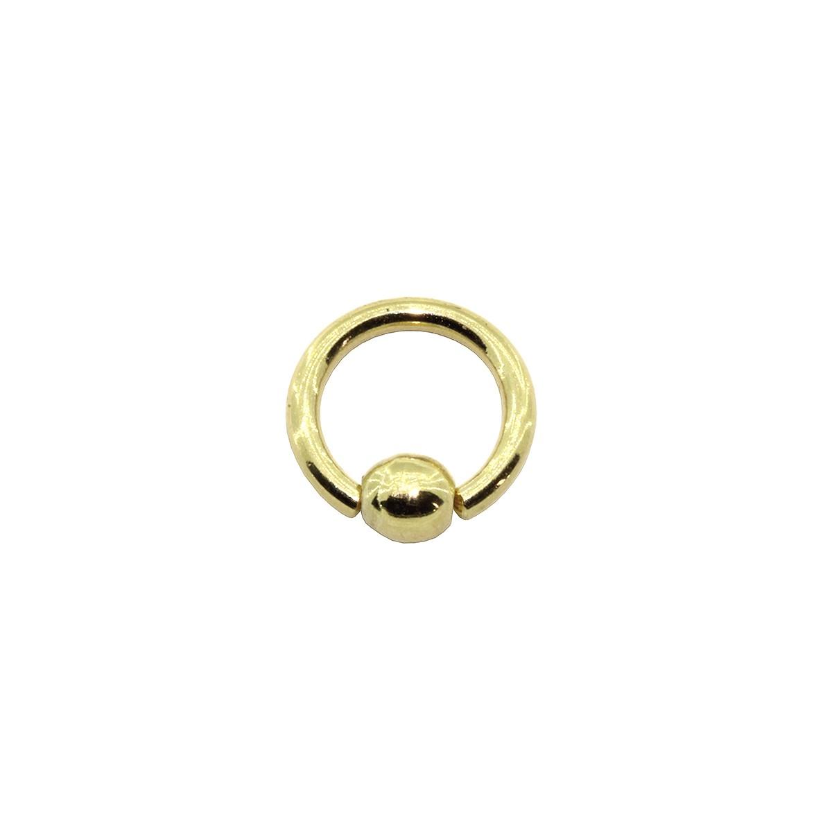 Piercing Helix - Tragus - Labret - Septo em Ouro 18k Captive Tradicional