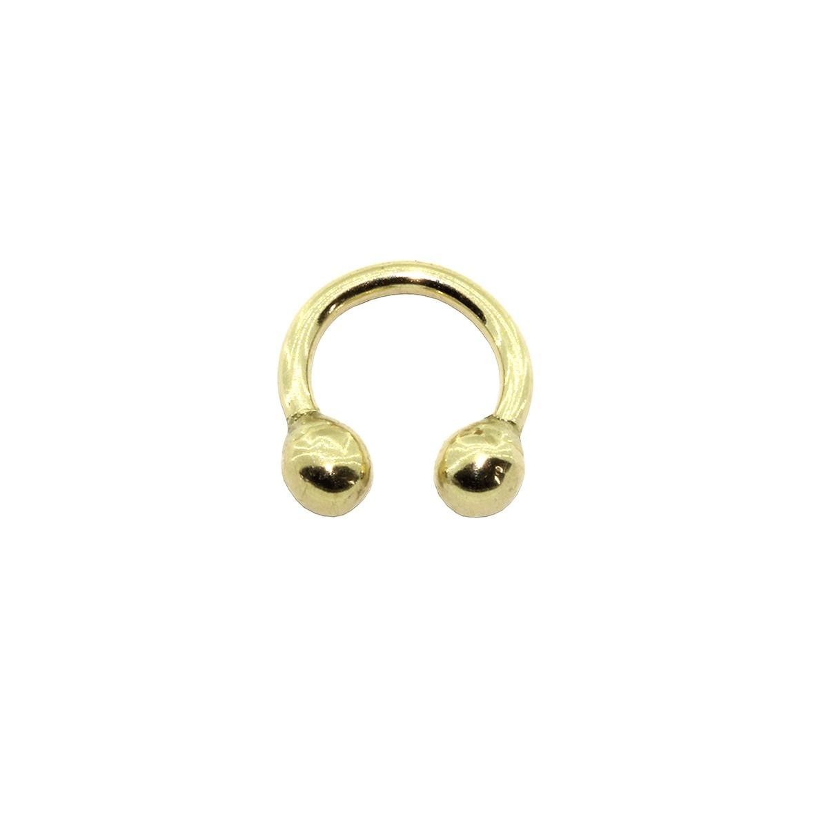 Piercing Helix - Tragus - Hook - Septo em Ouro 18k Ferradura Tradicional