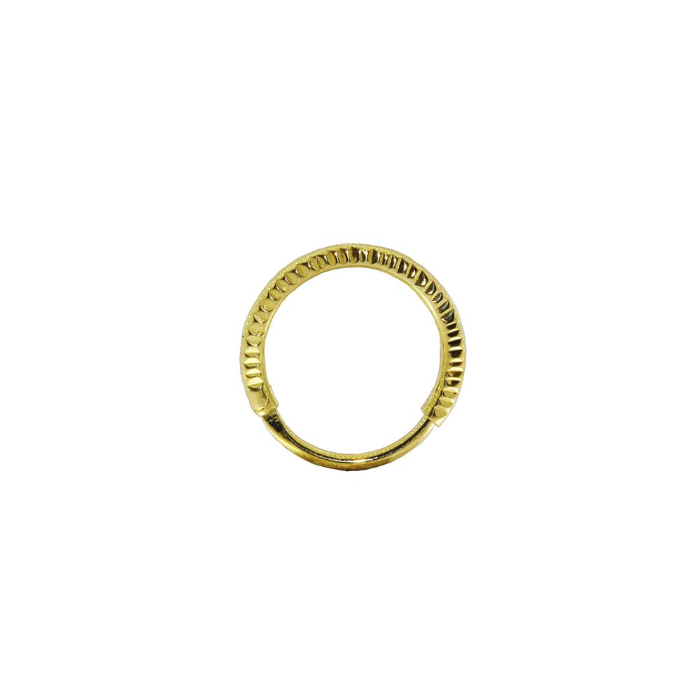 Piercing Helix em Ouro 18k Argola Segmentada Oca Mod 01
