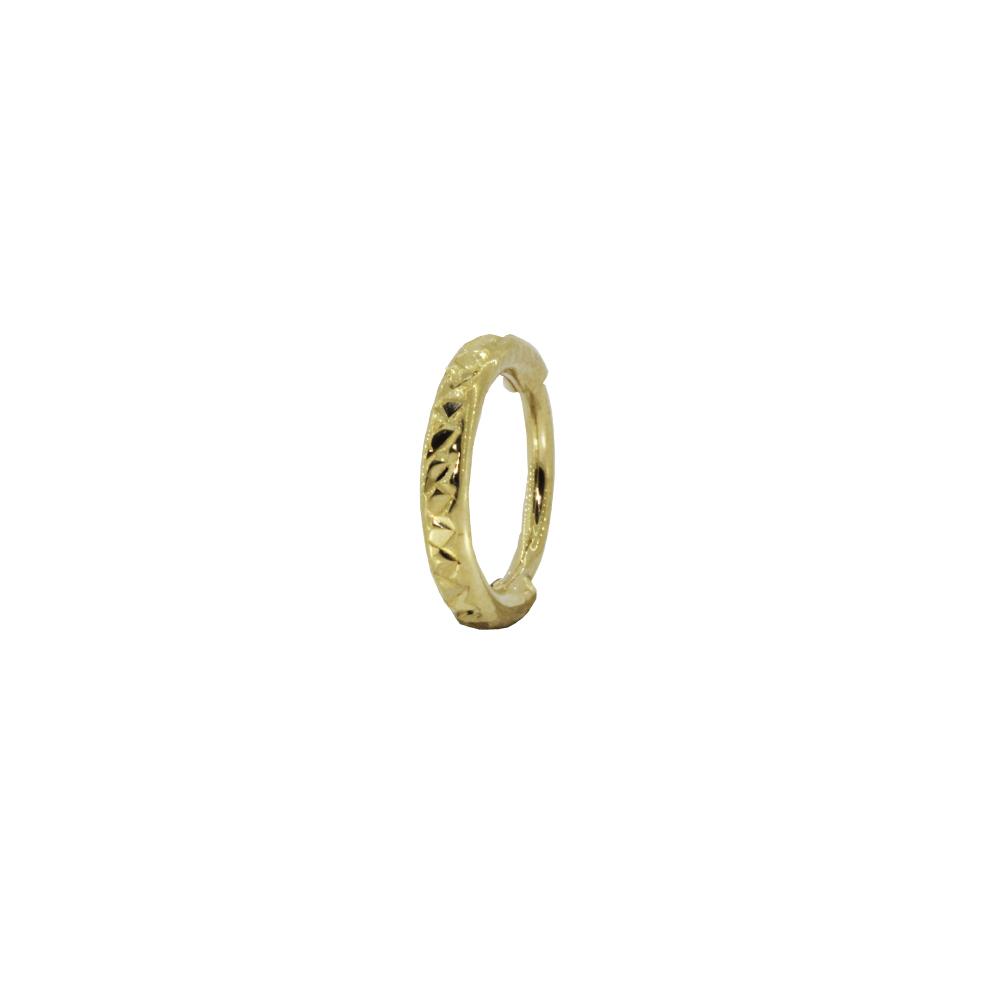 Piercing Helix em Ouro 18k Argola Segmentada Oca Mod 02