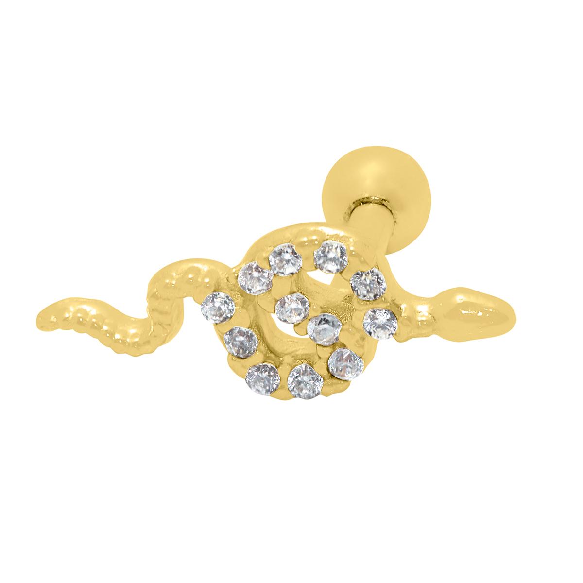 Piercing Helix em Ouro 18k Cobrinha