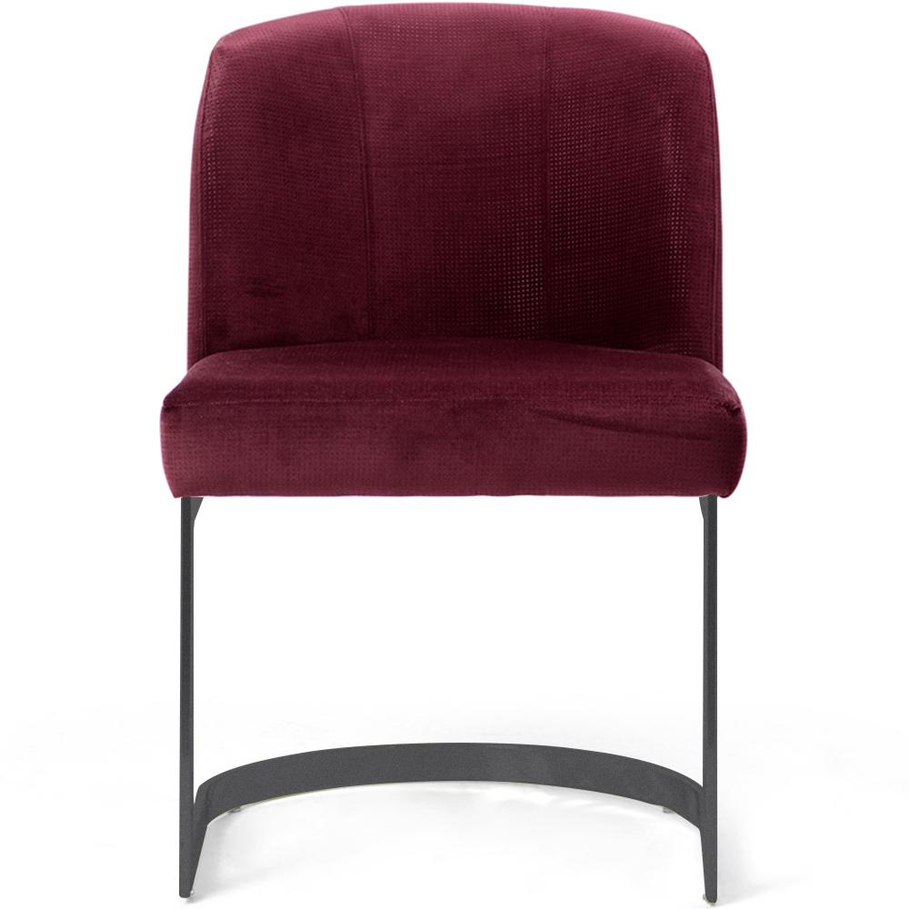 Cadeira Decorativa Cléo Com Base Grafite Veludo Importado Marsala - CasaePoltrona