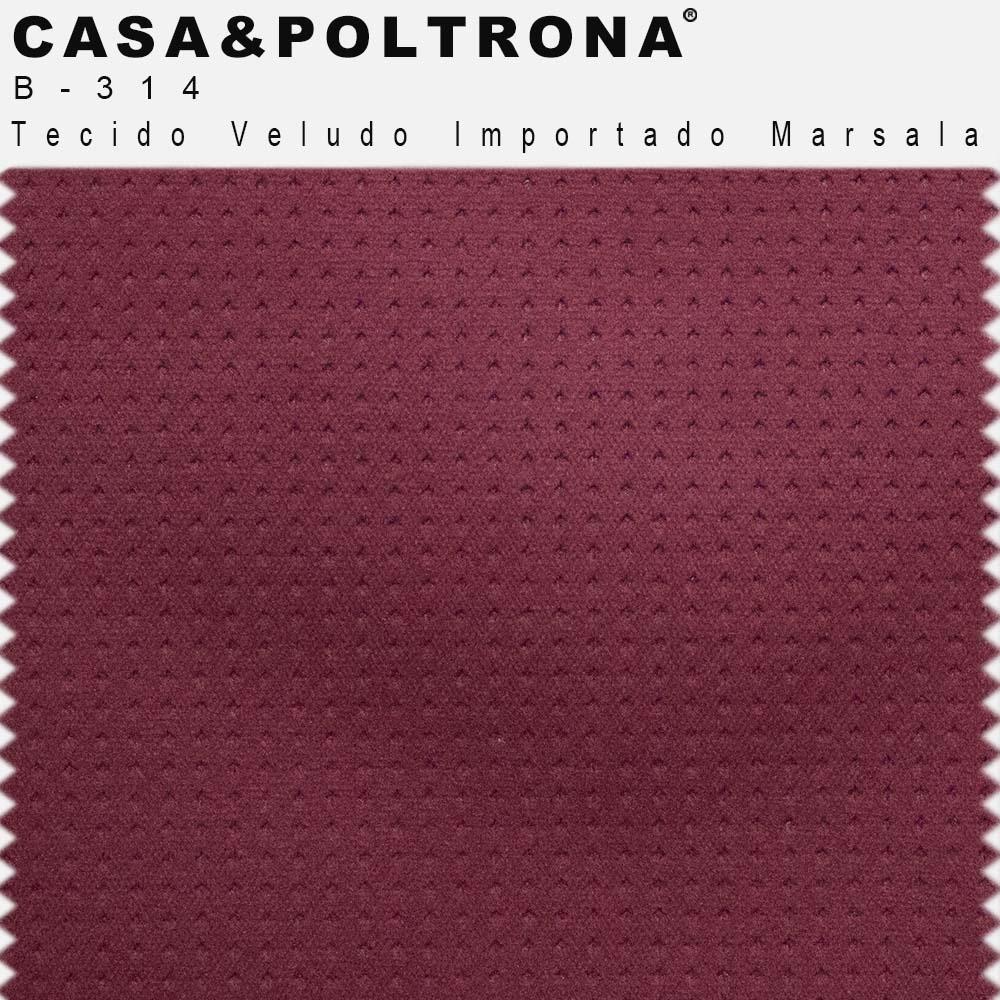 Cadeira Decorativa Cléo Com Base Preto Veludo Importado Marsala - CasaePoltrona