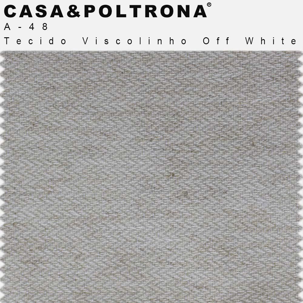 Kit 02 Banquetas Decorativa Betina Base Aço Chocolate Viscolinho Off White - CasaePoltrona