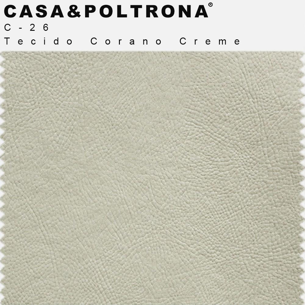 Kit 02 Poltronas Betina Base Aço Mustard Corano Creme - CasaePoltrona