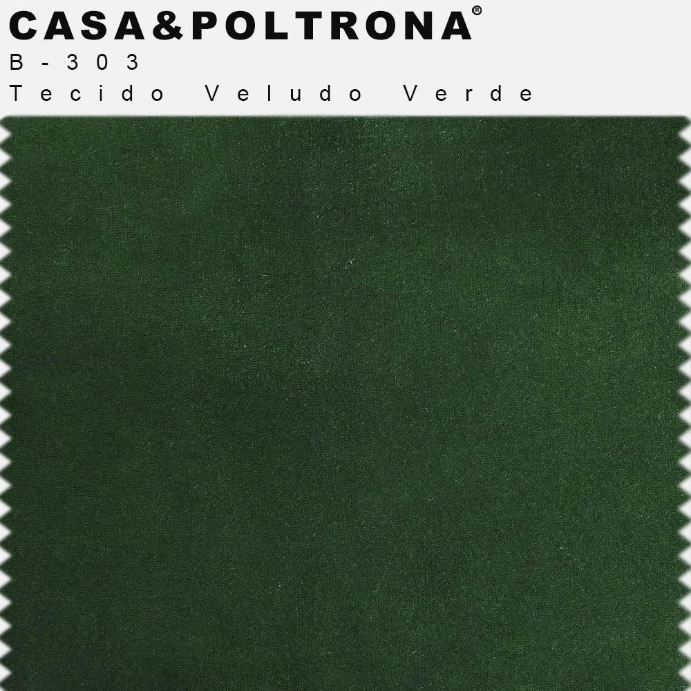 Kit 02 Poltronas Betina Base Aço Preto Veludo Verde - CasaePoltrona
