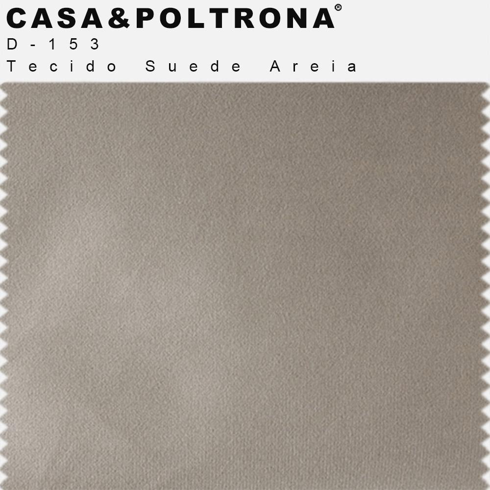 Kit 02 Poltronas Decorativas Milena Base Madeira Suede Areia - CasaePoltrona