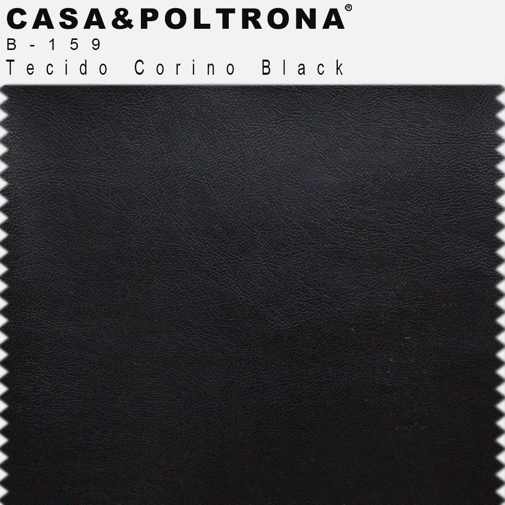 Namoradeira Decorativa Joy Base de Madeira 02 Lugares 140 cm Corano Black - casaepoltrona