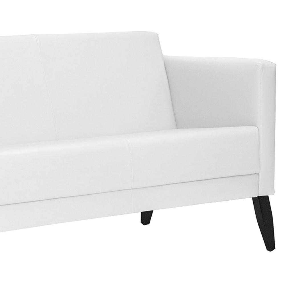 Namoradeira Decorativa Para Sala Debby 02 Lugares 128 cm Corano Branco - casaepoltrona