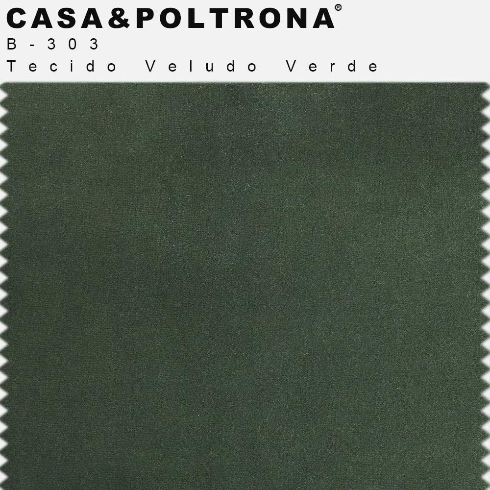 Poltrona de Sala Betina Base Aço Preto Veludo Verde - CasaePoltrona