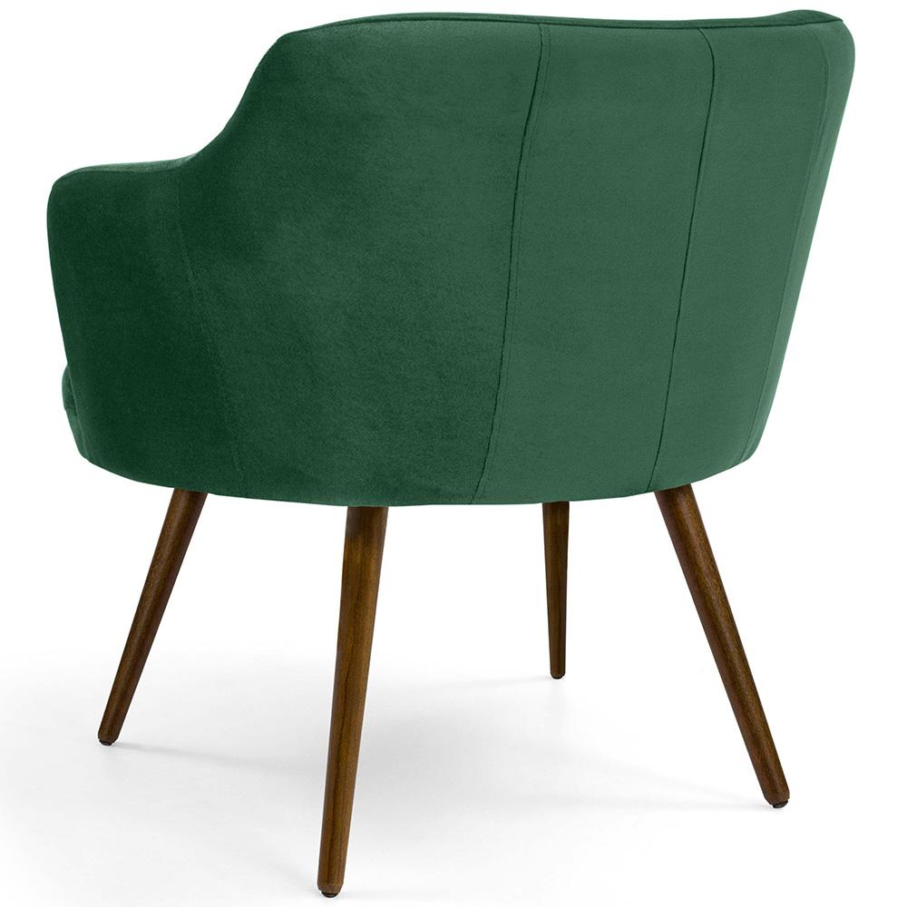Poltrona De Sala Decorativa Jade Pés Palito Suede Verde Esmeralda - casaepoltrona