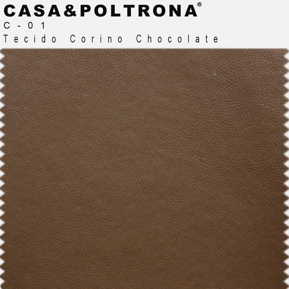 Poltrona de Sala Decorativa Kubo Corano Chocolate - casaepoltrona