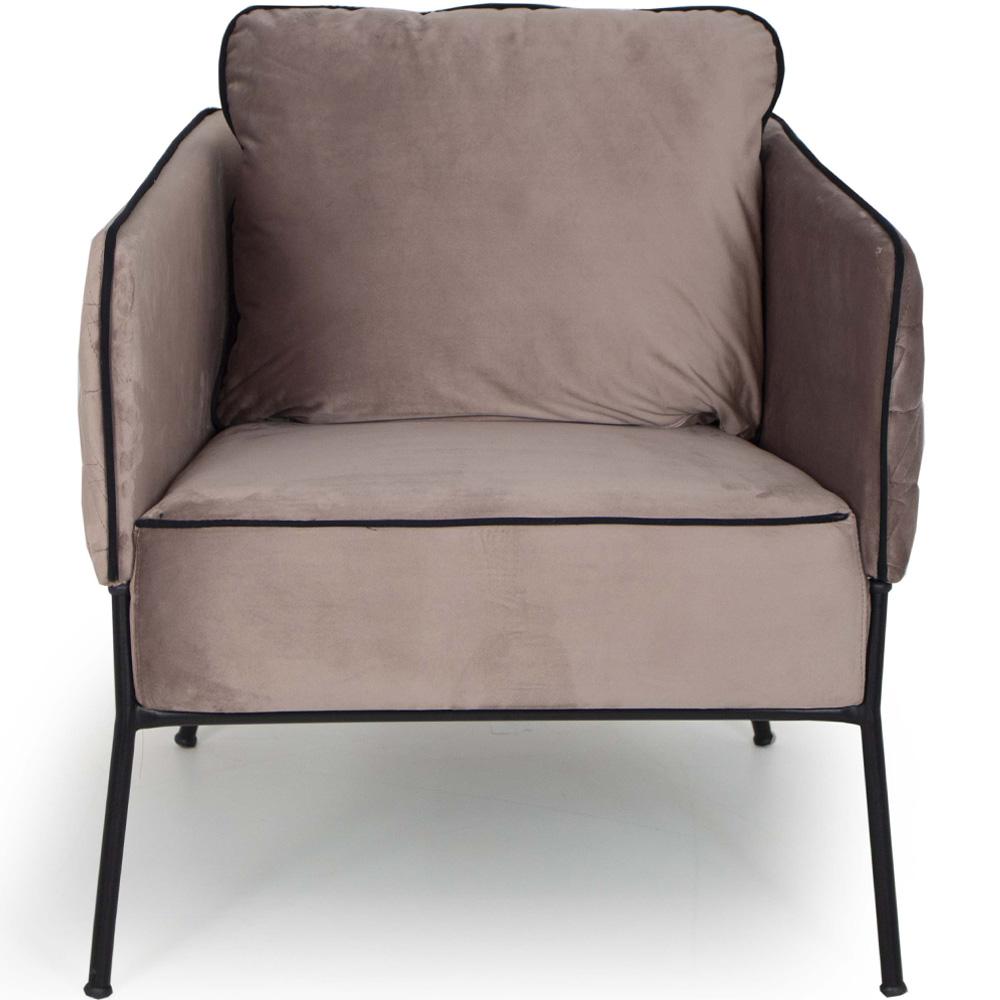 Poltrona Decorativa Blenda Para Sala Base Fixa Veludo Rose - casaepoltrona