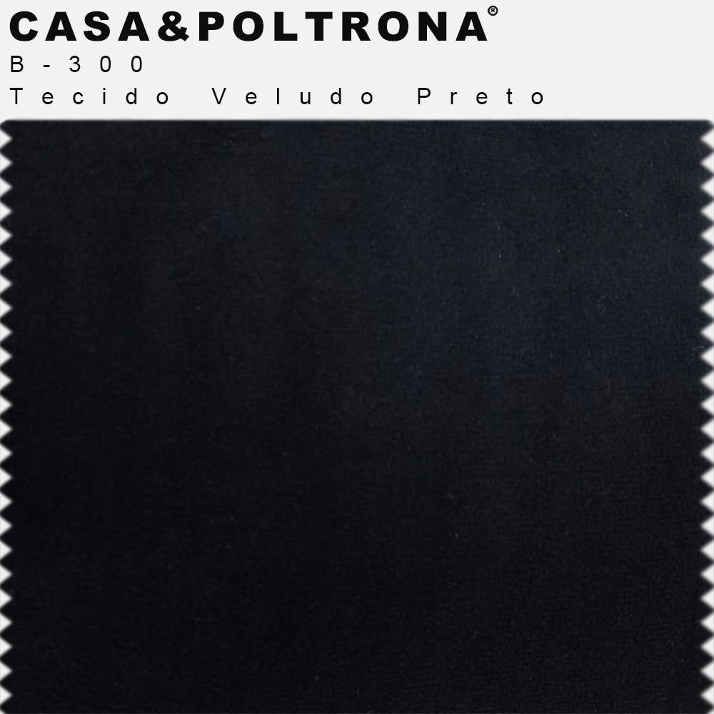 Poltrona Decorativa Cléo Base Old Bronze Veludo Preto - CasaePoltrona
