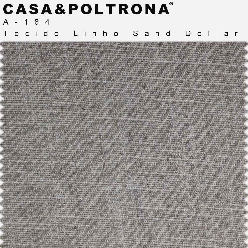Poltrona Decorativa De Sala Lolla Base de Madeira Matelassê Linho Sand Dollar - casaepoltrona