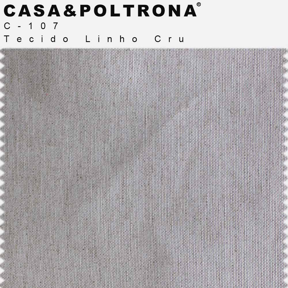 Poltrona Decorativa Giratória Marselha Base X Linho Cru - Casaepoltrona