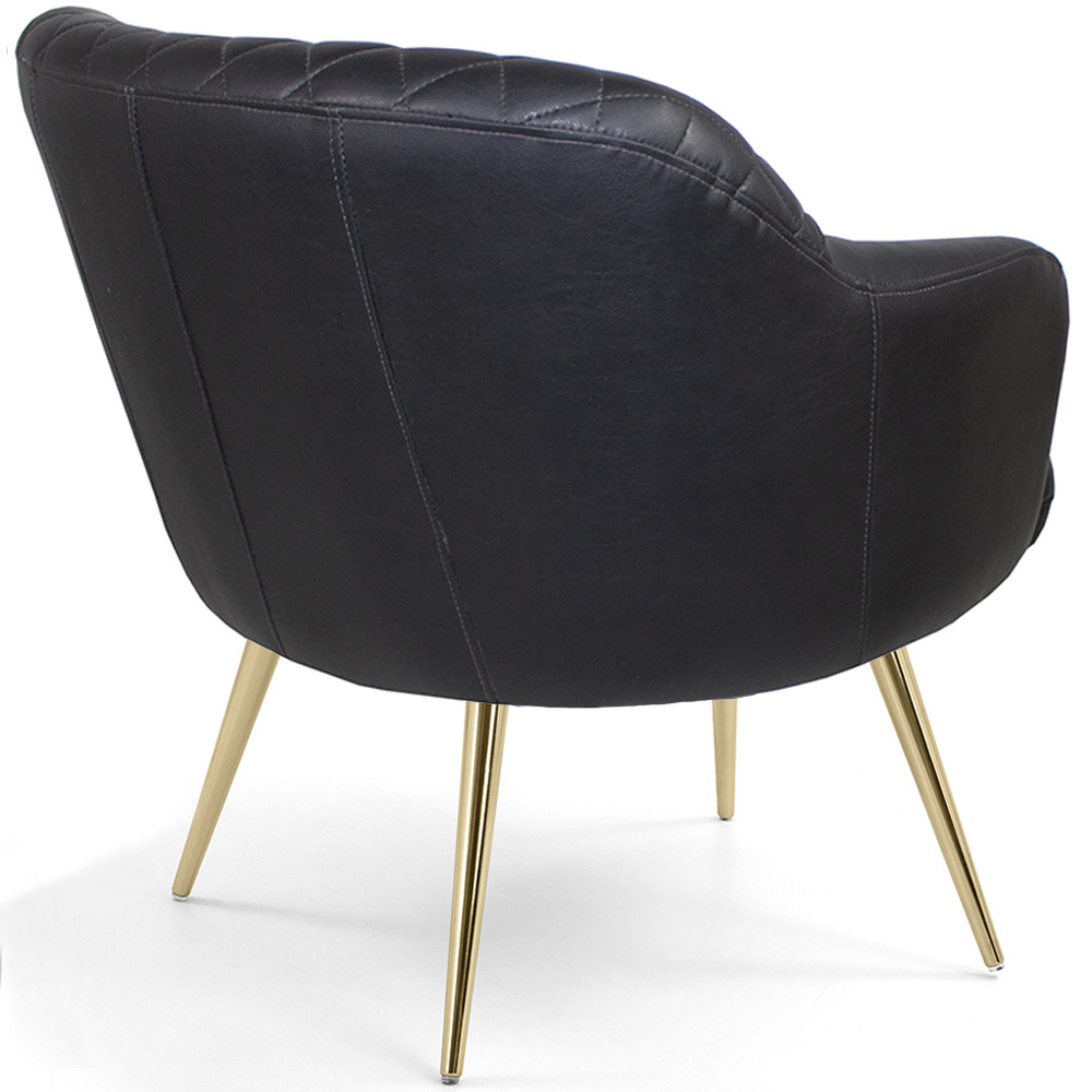 Poltrona Decorativa Jade Pés Palito Gold Corano Black - CasaePoltrona