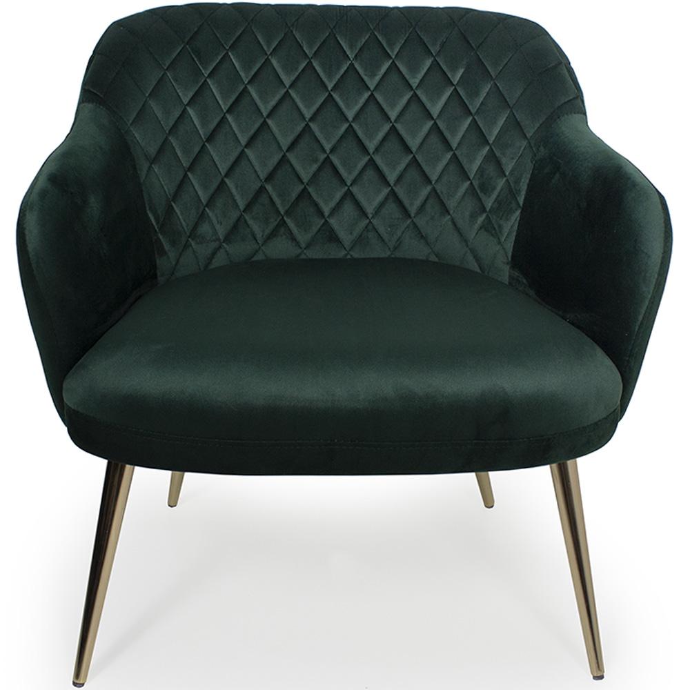 Poltrona Decorativa Jade Pés Palito Gold Veludo Verde - CasaePoltrona