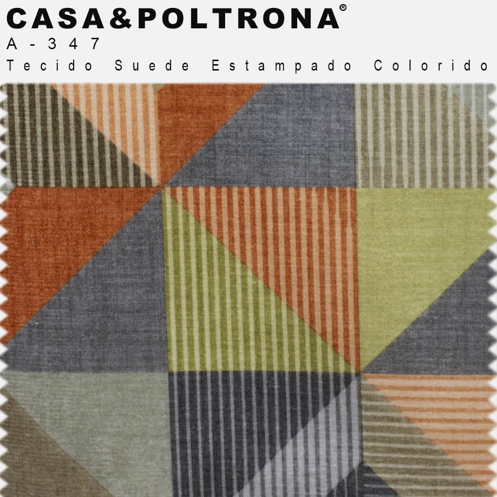 Poltrona Decorativa La Paloma Pés Madeira Imbuia Suede Estampado Colorido - casaepoltrona