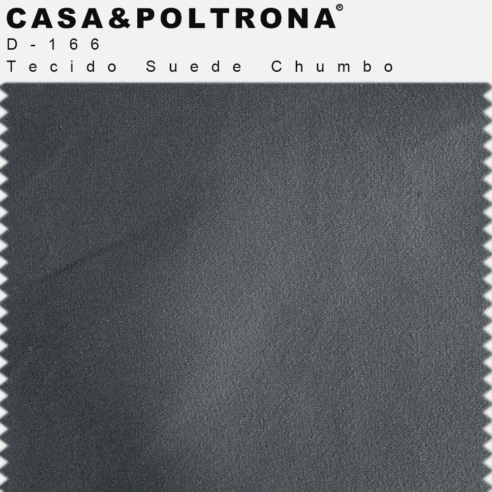 Poltrona Decorativa Milena Base Madeira Suede Chumbo - CasaePoltrona
