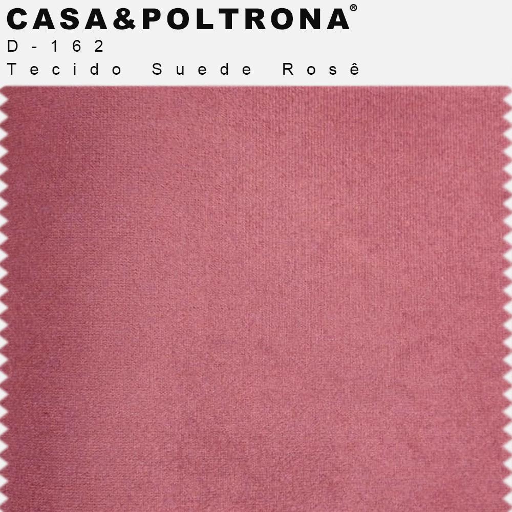 Poltrona Decorativa Milena Base Madeira Suede Rosê - CasaePoltrona