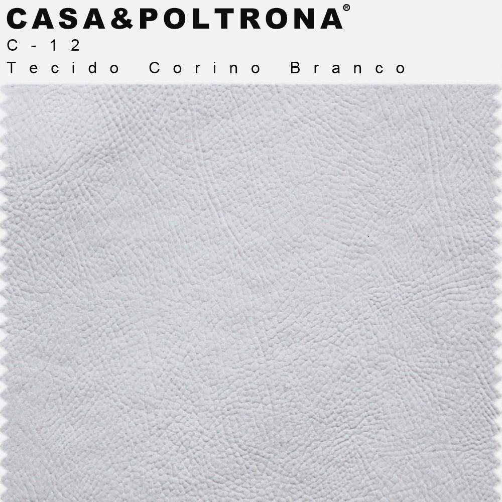 Poltrona Decorativa Para Escritório Debby Pés Madeira Corano Branco - casaepoltrona