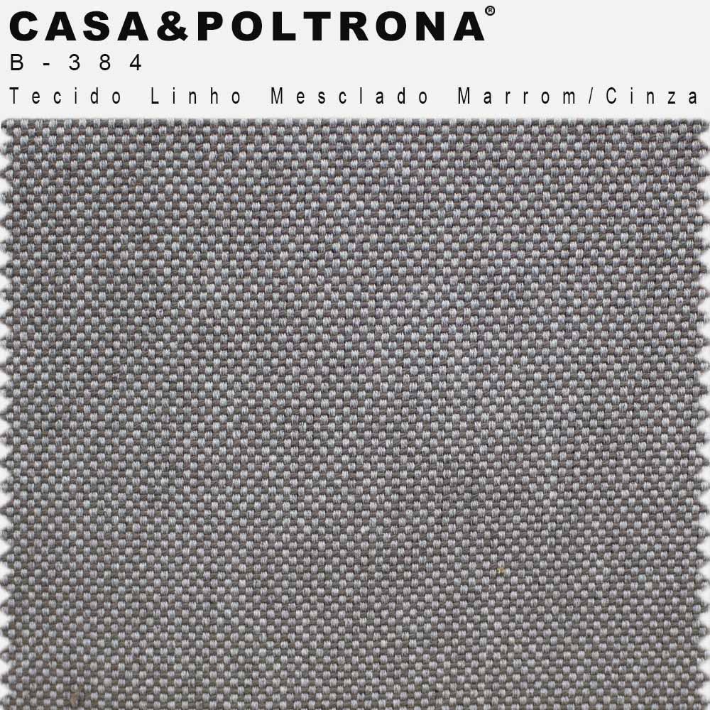 Poltrona Decorativa Para Sala Dana Base Orby Linho Mesclado Marrom/Cinza - casaepoltrona