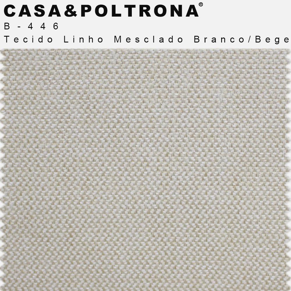 Poltrona Decorativa Para Sala de Estar Melli Base Giratória X Linho Mesclado Branco/Bege - casaepoltrona