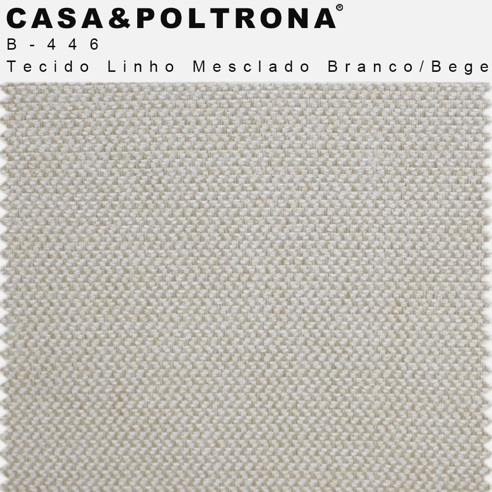 Poltrona Decorativa Para Sala de Estar Melli Pés Palito Imbuia Linho Mesclado Branco/Bege - casaepoltrona